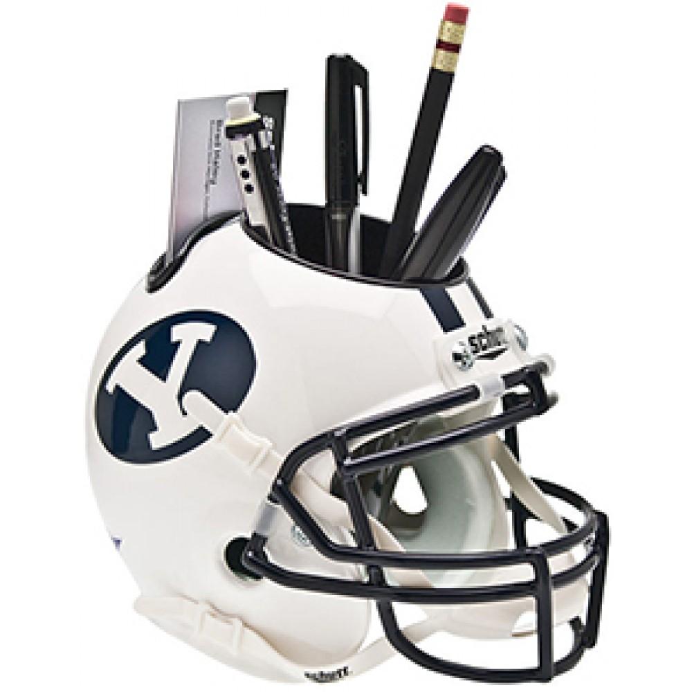 0d0b2896 Schutt NCAA BYU Cougars Authentic Mini Football Helmet Desk Caddy