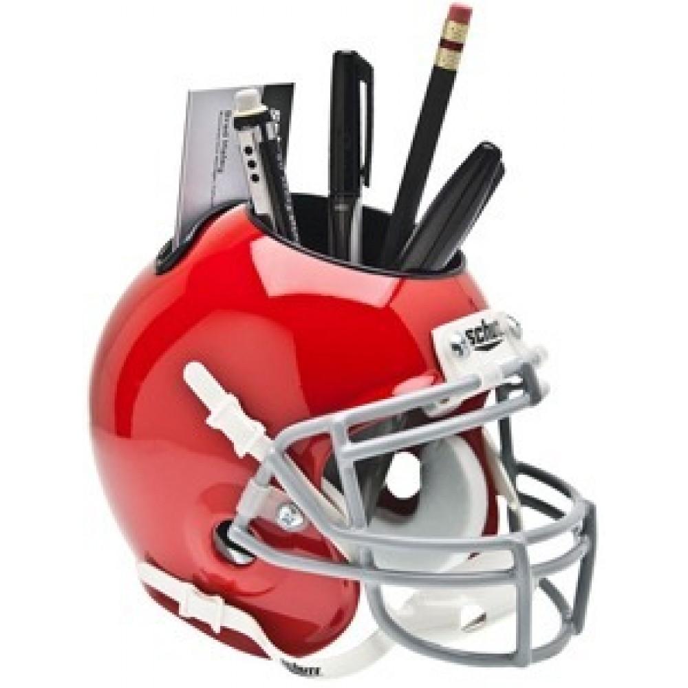 Ohio St Buckeyes Red Authentic Mini Helmet Desk Caddy