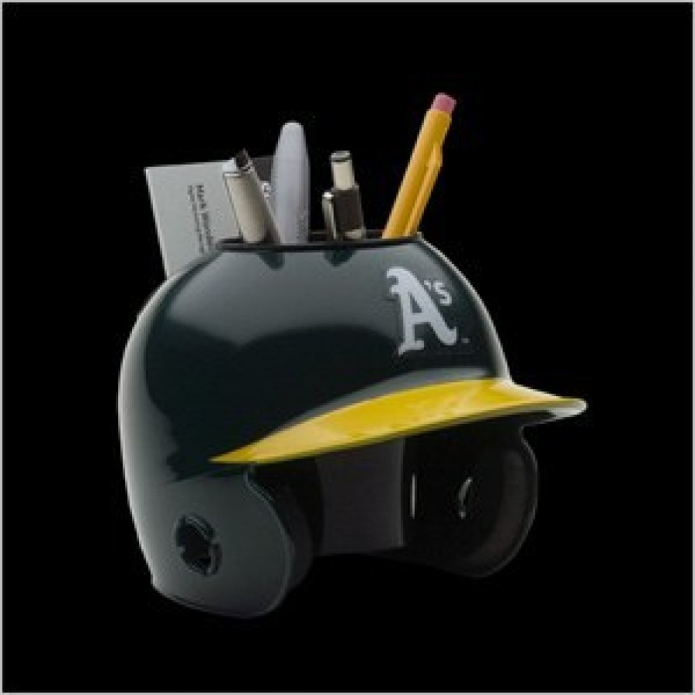 Oakland Athletics Authentic Mini Batting Helmet Desk Caddy