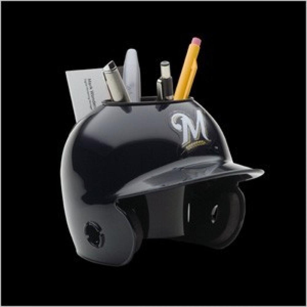 Milwaukee Brewers Authentic Mini Batting Helmet Desk Caddy