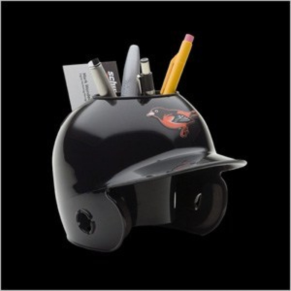 Baltimore Orioles Throwback Authentic Mini Batting Helmet Desk Caddy