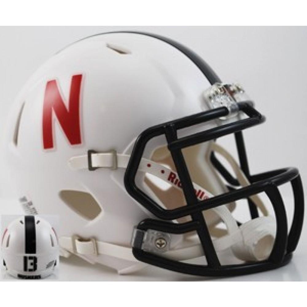 Nebraska Cornhuskers 2013 Alt White Throwback Revolution Speed Mini Helmet NEW 2013