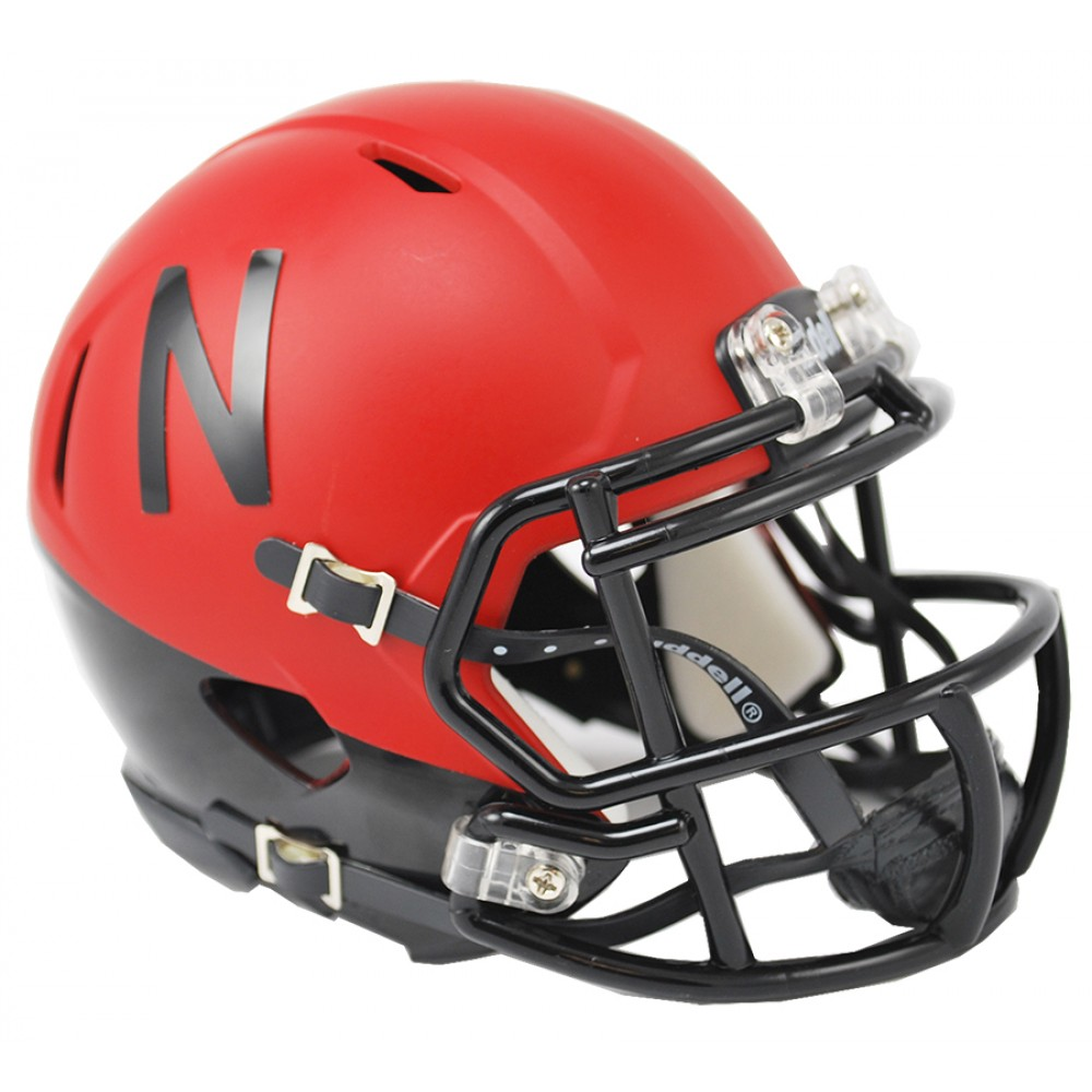 Nebraska Cornhuskers Matte Scarlet Revolution Speed Mini Helmet NEW 2014