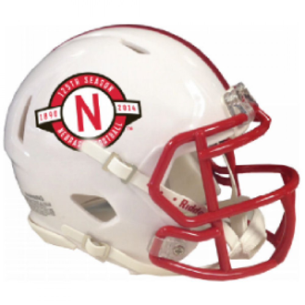 Riddell NCAA Nebraska Cornhuskers 125th Anniversary Revolution Speed Mini Helmet