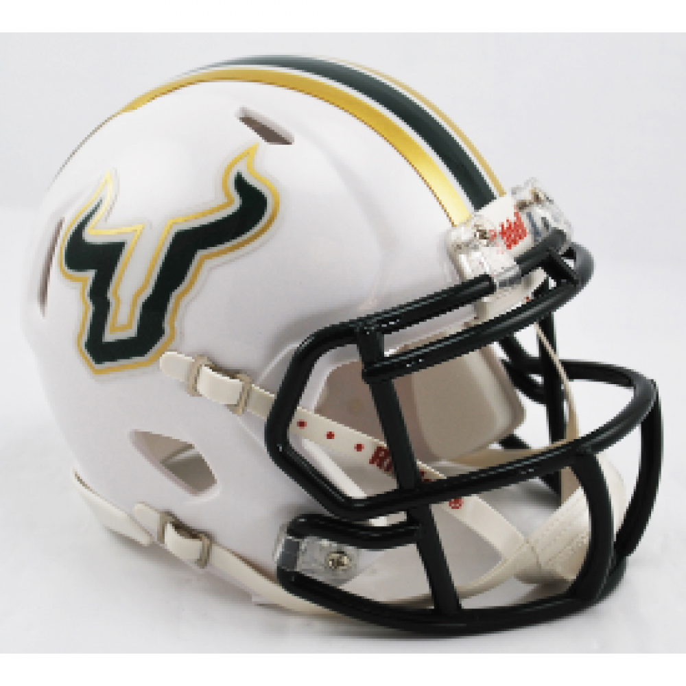 Riddell NCAA South Florida Bulls White Revolution Speed Mini Helmet