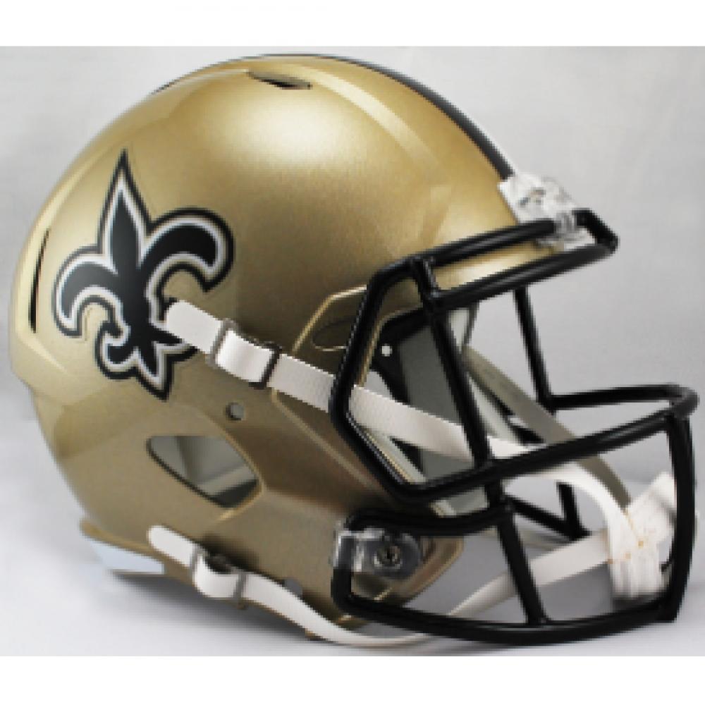 Riddell NFL New Orleans Saints Replica Speed Full Size Football Helmet