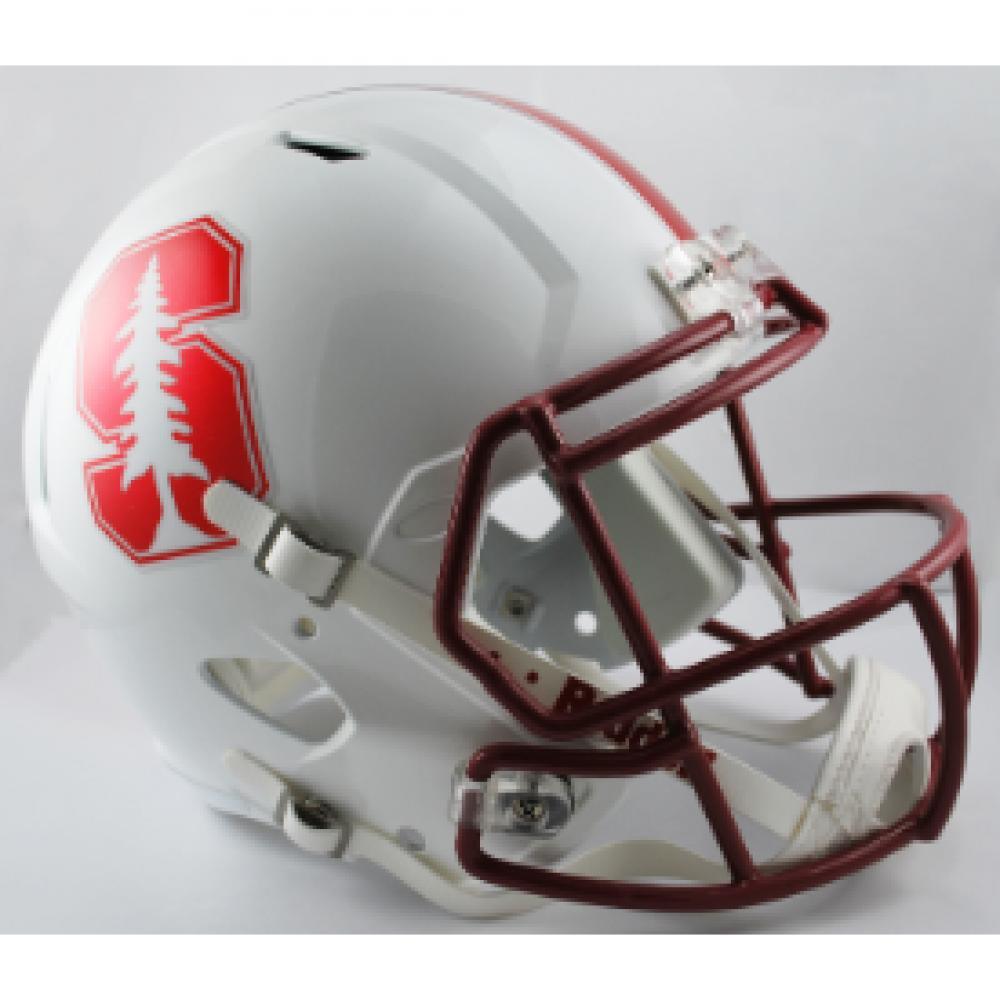 Football Helmet Chrome : Riddell ncaa stanford cardinal chrome decal replica speed