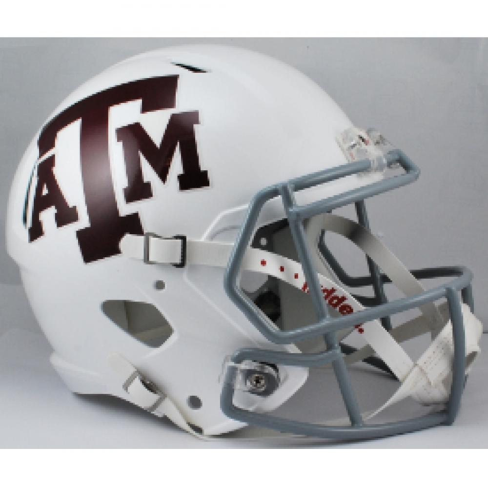 Sports Memorabilia Riddell Texas A/&M Aggies Revolution Speed White Replica Football Helmet College Replica Helmets