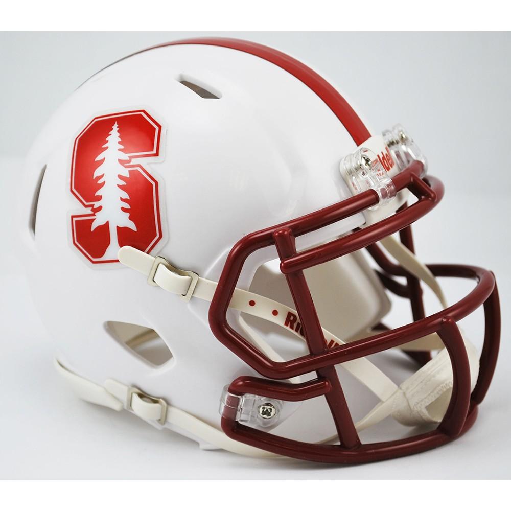 Stanford Cardinal Chrome Decal Revolution Speed Mini Helmet