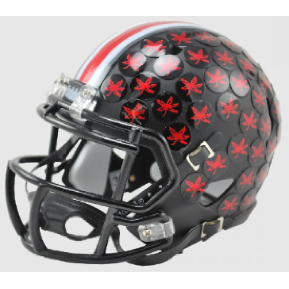 Columbus Ohio Sales Tax >> Riddell NCAA Ohio St Buckeyes Satin Black Speed Mini Football Helmet