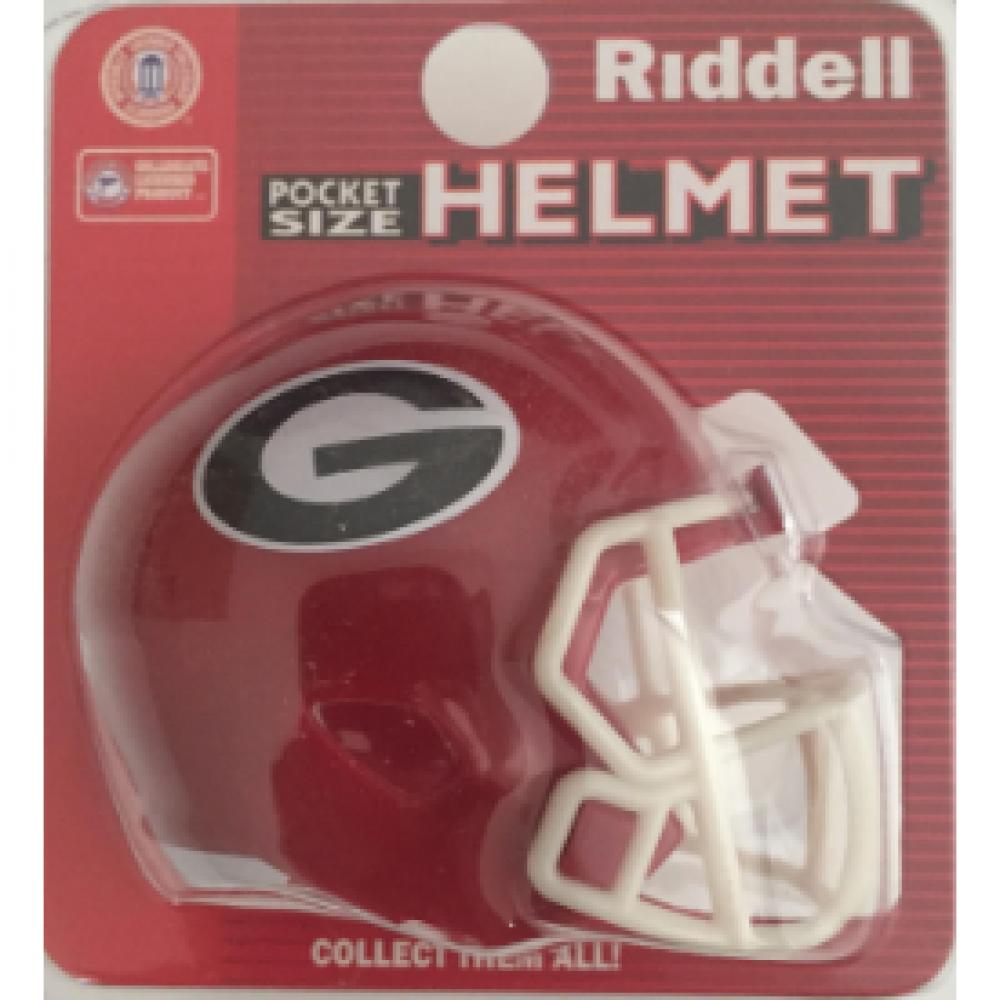 Riddell NCAA Georgia Bulldogs Speed Pocket Size Football Helmet