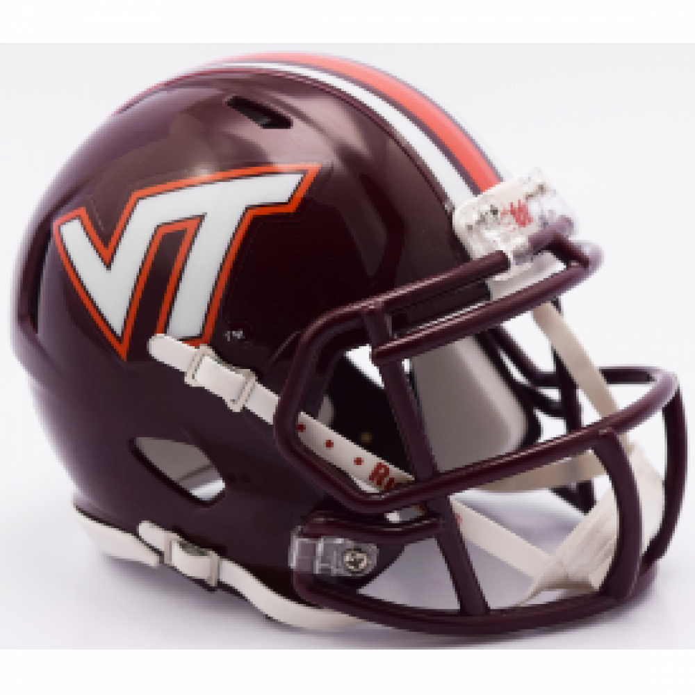 Riddell NCAA Virginia Tech Hokies Center Stripes Speed Mini Football Helmet