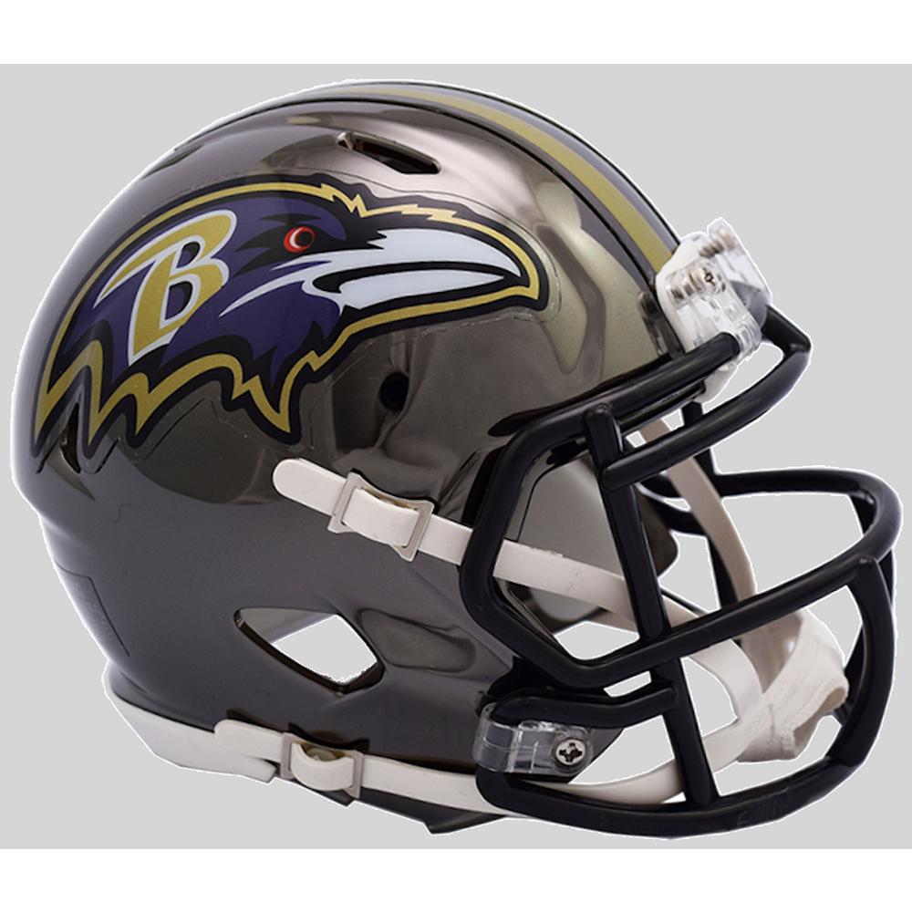 Riddell NFL Baltimore Ravens 2018 Chrome Speed Mini Football Helmet