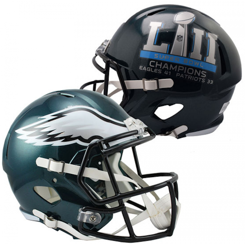 Riddell NFL Philadelphia Eagles Super Bowl 52 Champions Replica Speed Full Size Football Helmet