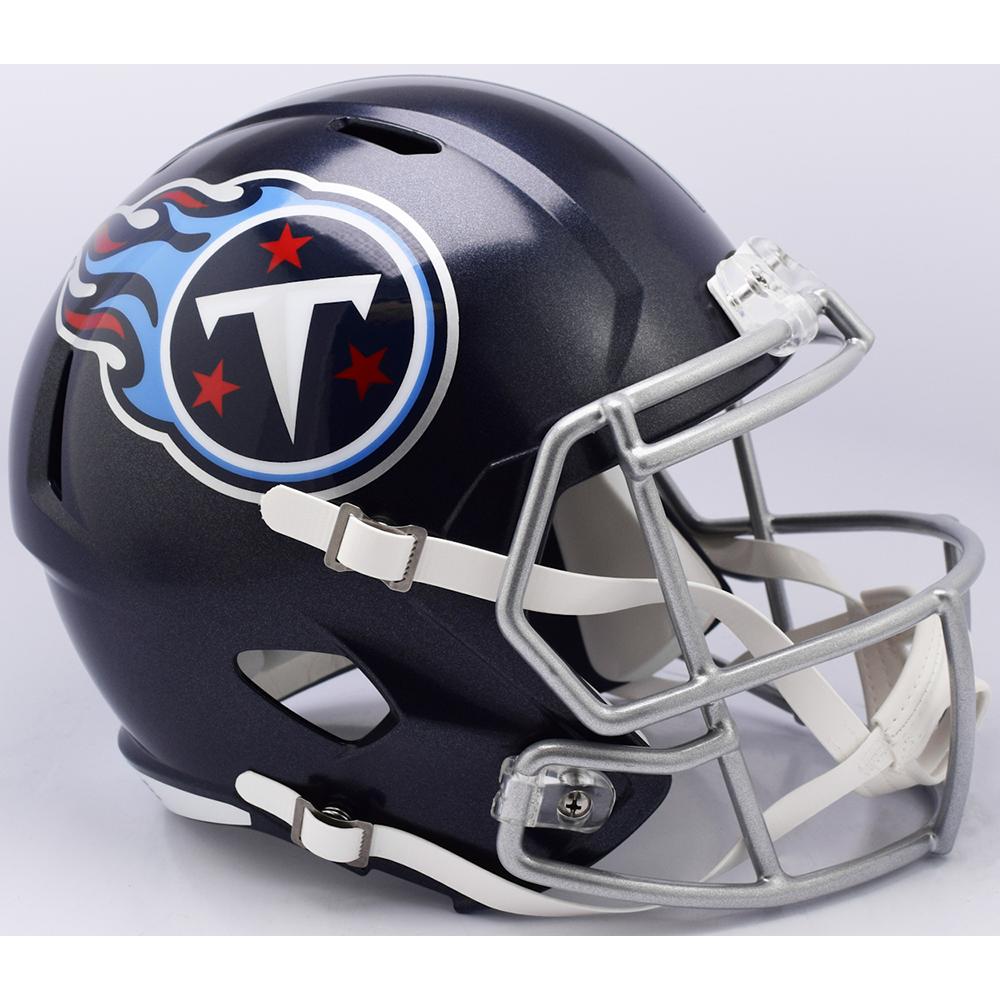 Riddell NFL Tennessee Titans 2018 Satin Navy Metallic Replica Speed Full Size Football Helmet