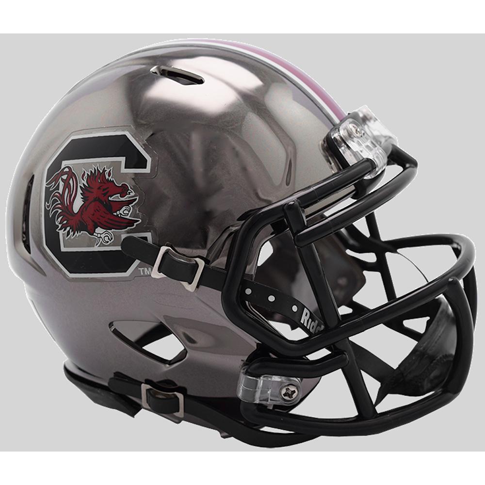 Riddell NCAA South Carolina Gamecocks 2018 Chrome Speed Mini Football Helmet