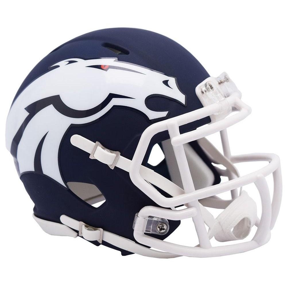 Denver Broncos 2019 AMP Riddell Mini Speed Helmet
