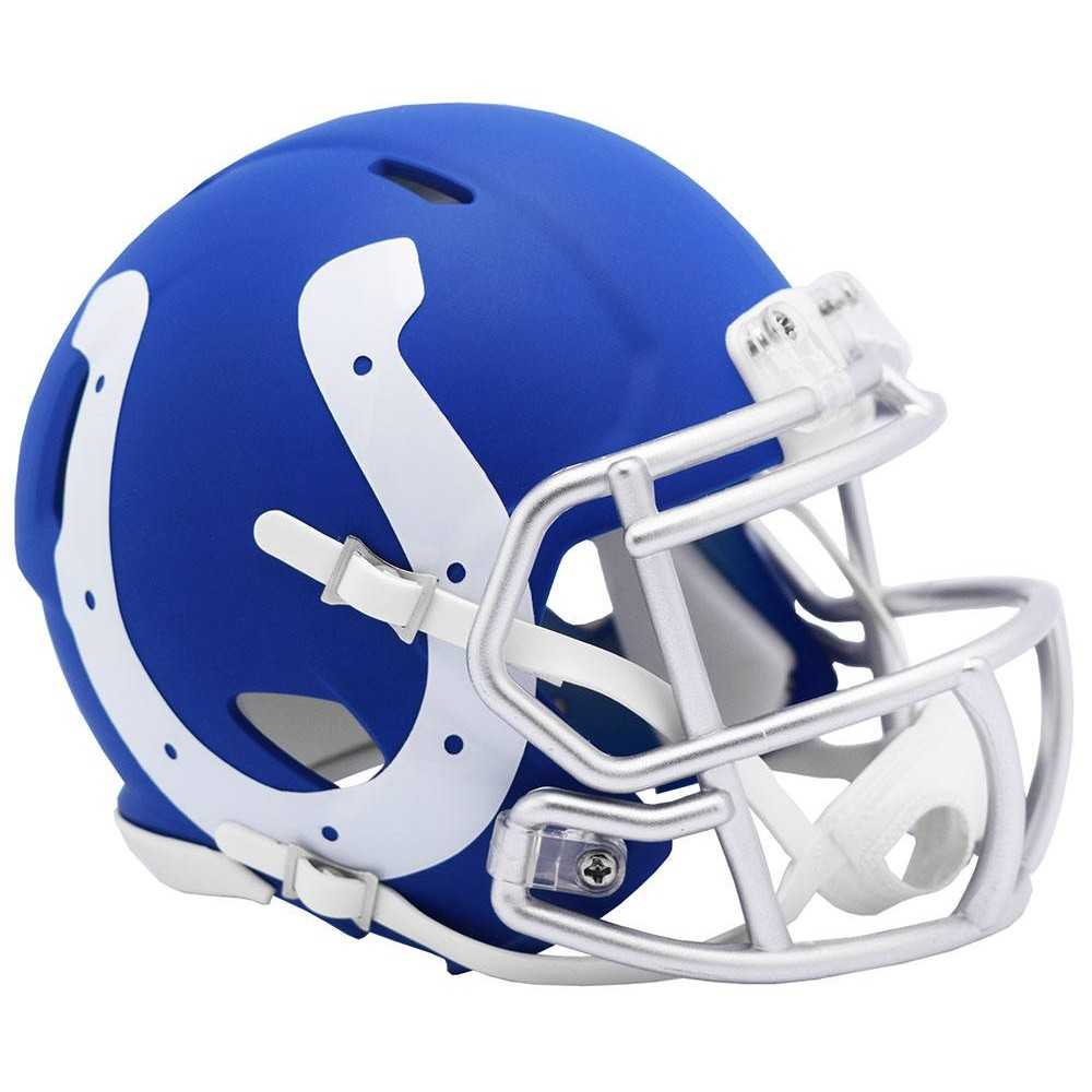 Indianapolis Colts 2019 AMP Riddell Mini Speed Helmet