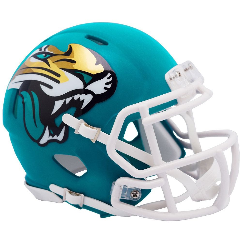 Jacksonville Jaguars 2019 AMP Riddell Mini Speed Helmet