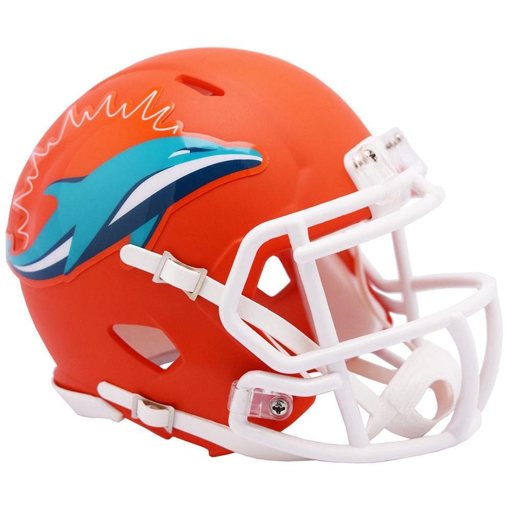 Miami Dolphins 2019 AMP Riddell Mini Speed Helmet