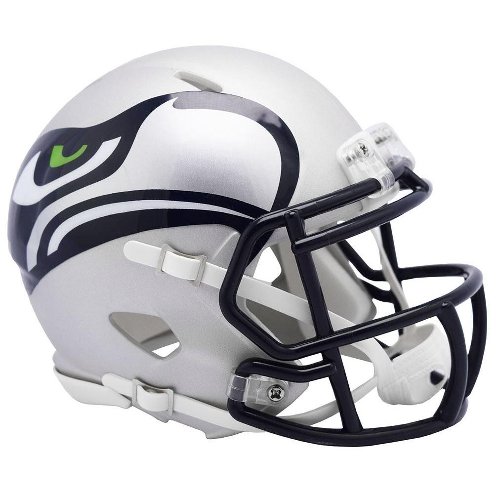 Seattle Seahawks Matte Navy 2019 AMP Riddell Mini Speed Helmet