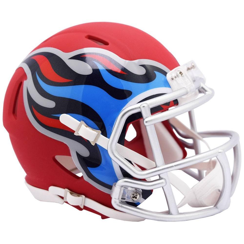 Tennessee Titans Satin Navy Metallic 2019 AMP Riddell Mini Speed Helmet