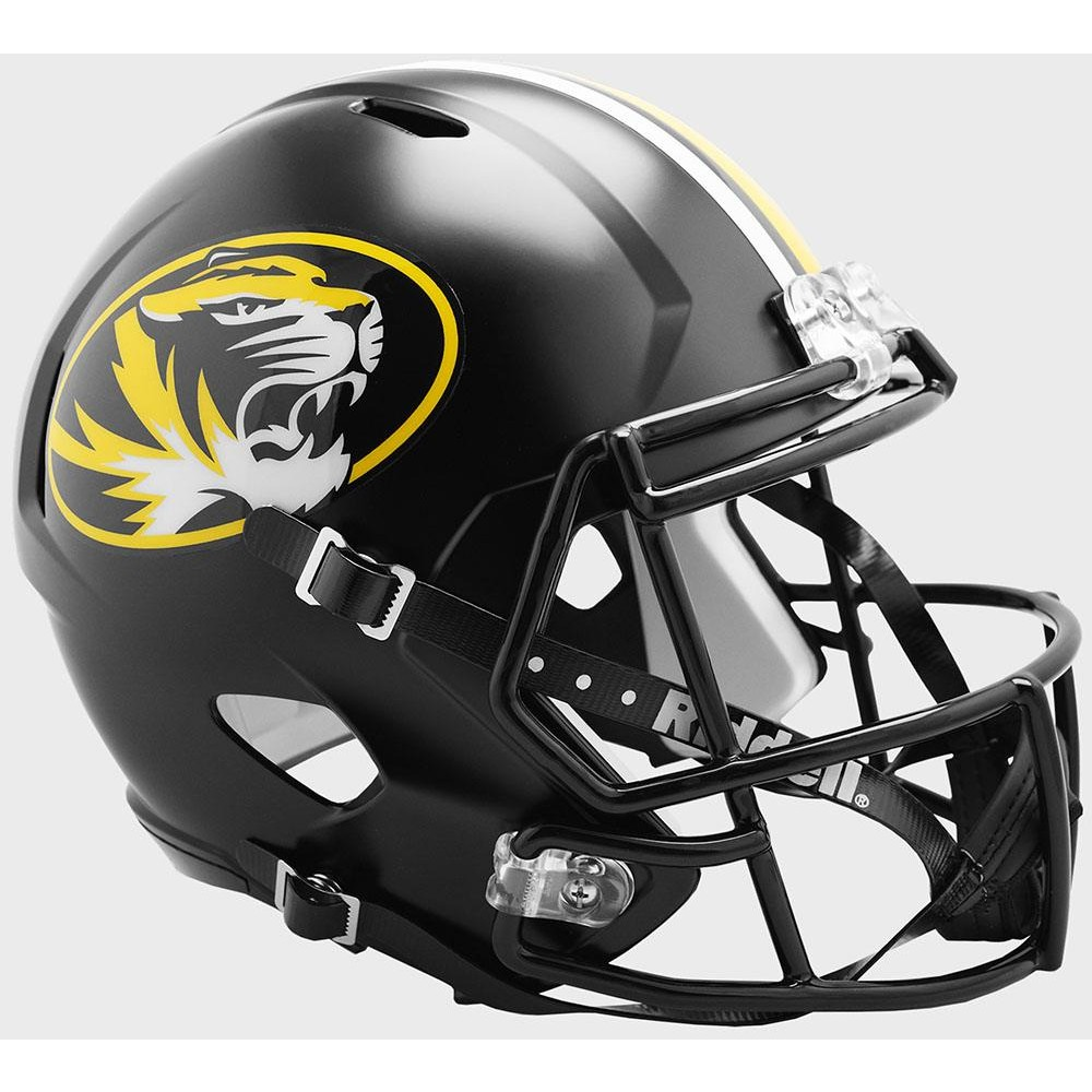Riddell NCAA Missouri Tigers 2019 Black Replica Speed Full Size Football Helmet