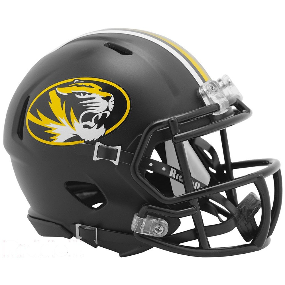 Riddell NCAA Missouri Tigers 2019 Black Speed Mini Football Helmet