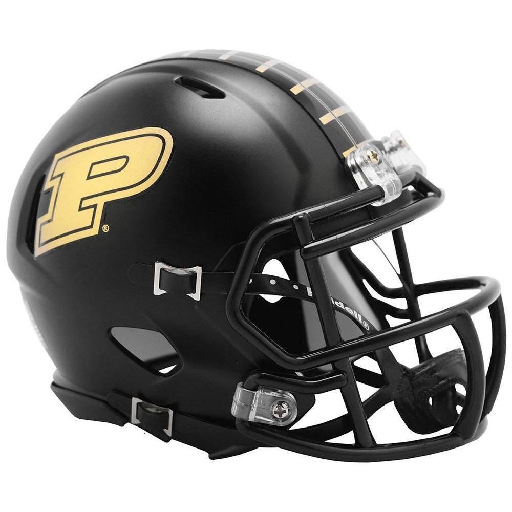 Riddell NCAA Purdue Boilermakers 2019 Anodized Black Speed Mini Football Helmet