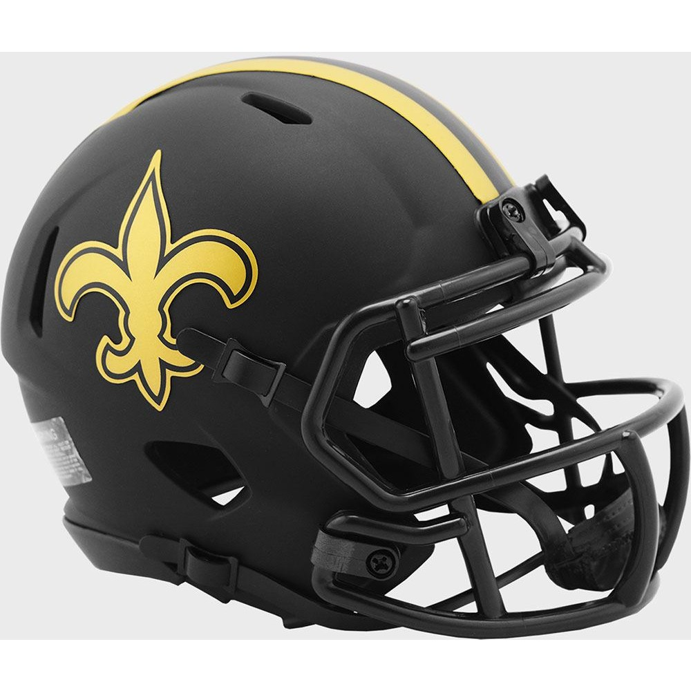 New Orleans Saints 2020 Eclipse Riddell Mini Speed Helmet