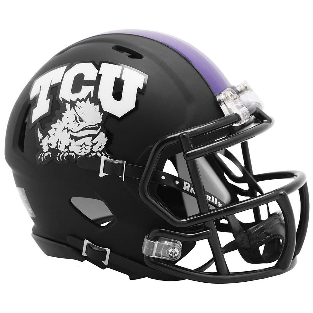 TCU Horned Frogs 2019 Matte Black Riddell Mini Speed Helmet