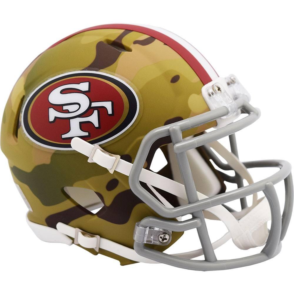 San Francisco 49ers 2020 Camo Riddell Mini Speed Helmet