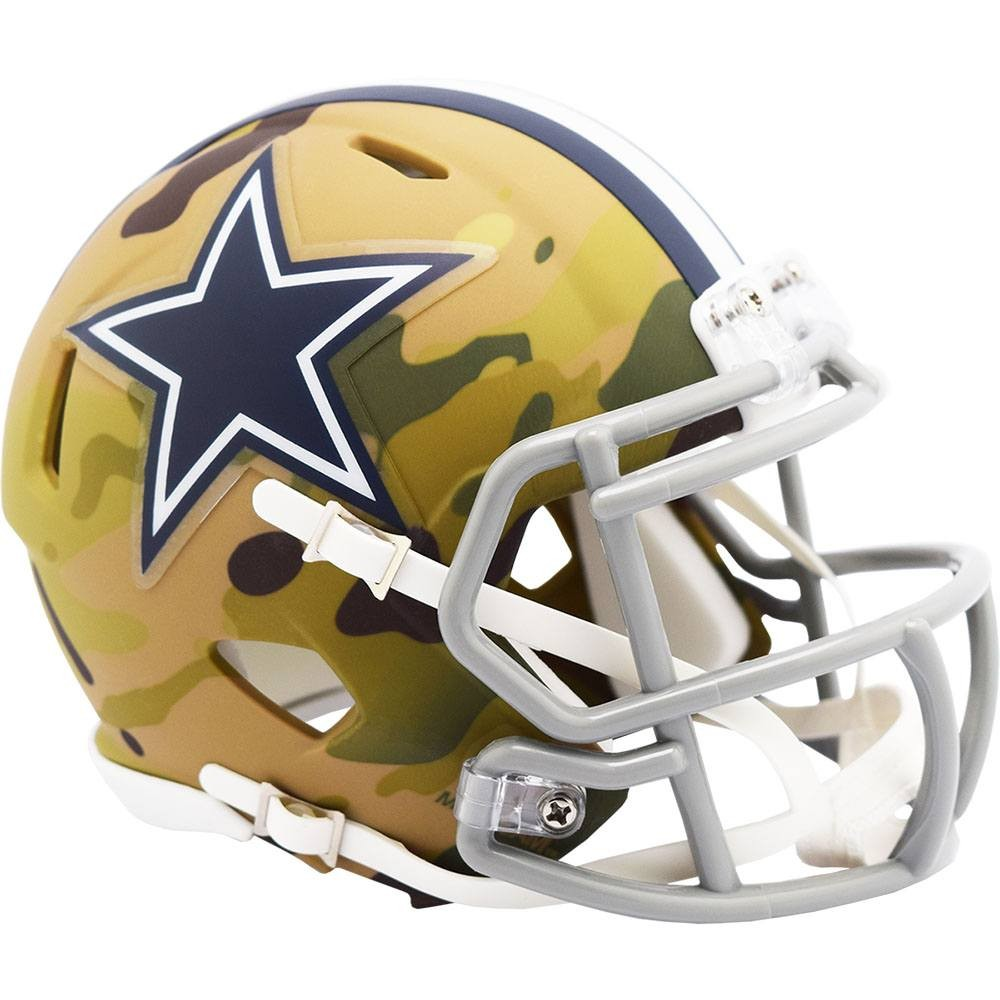 Dallas Cowboys 2020 Camo Riddell Mini Speed Helmet