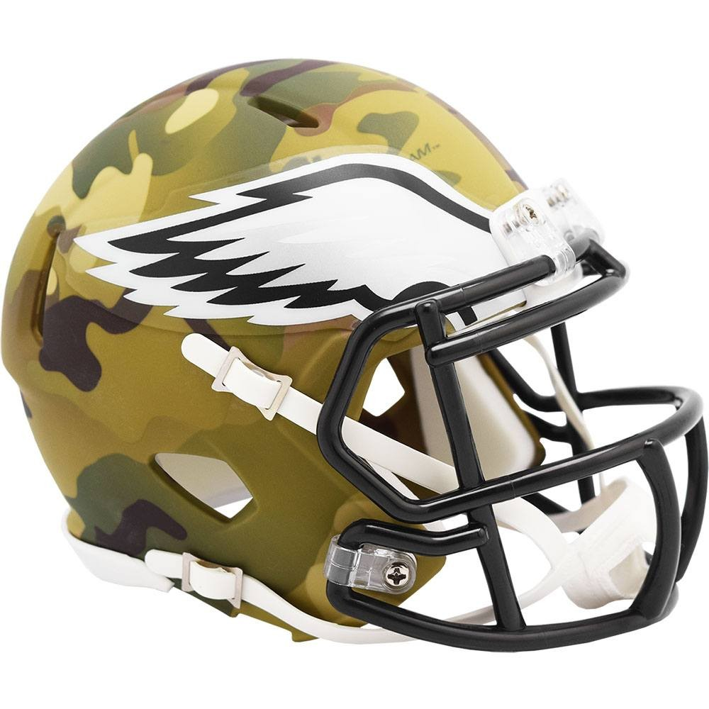 Philadelphia Eagles 2020 Camo Riddell Mini Speed Helmet