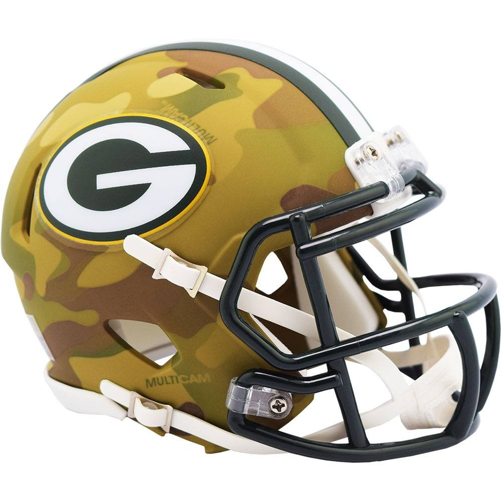 Green Bay Packers 2020 Camo Riddell Mini Speed Helmet