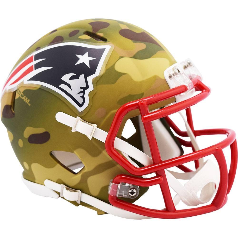 New England Patriots 2020 Camo Riddell Mini Speed Helmet