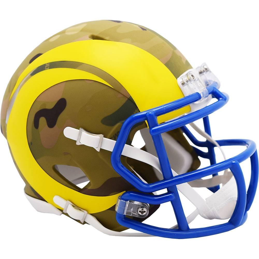 Los Angeles Rams 2020 Camo Riddell Mini Speed Helmet