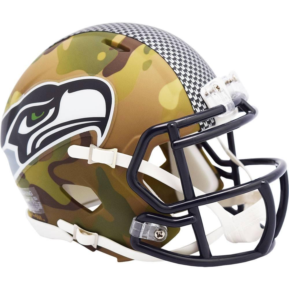 Seattle Seahawks 2020 Camo Riddell Mini Speed Helmet