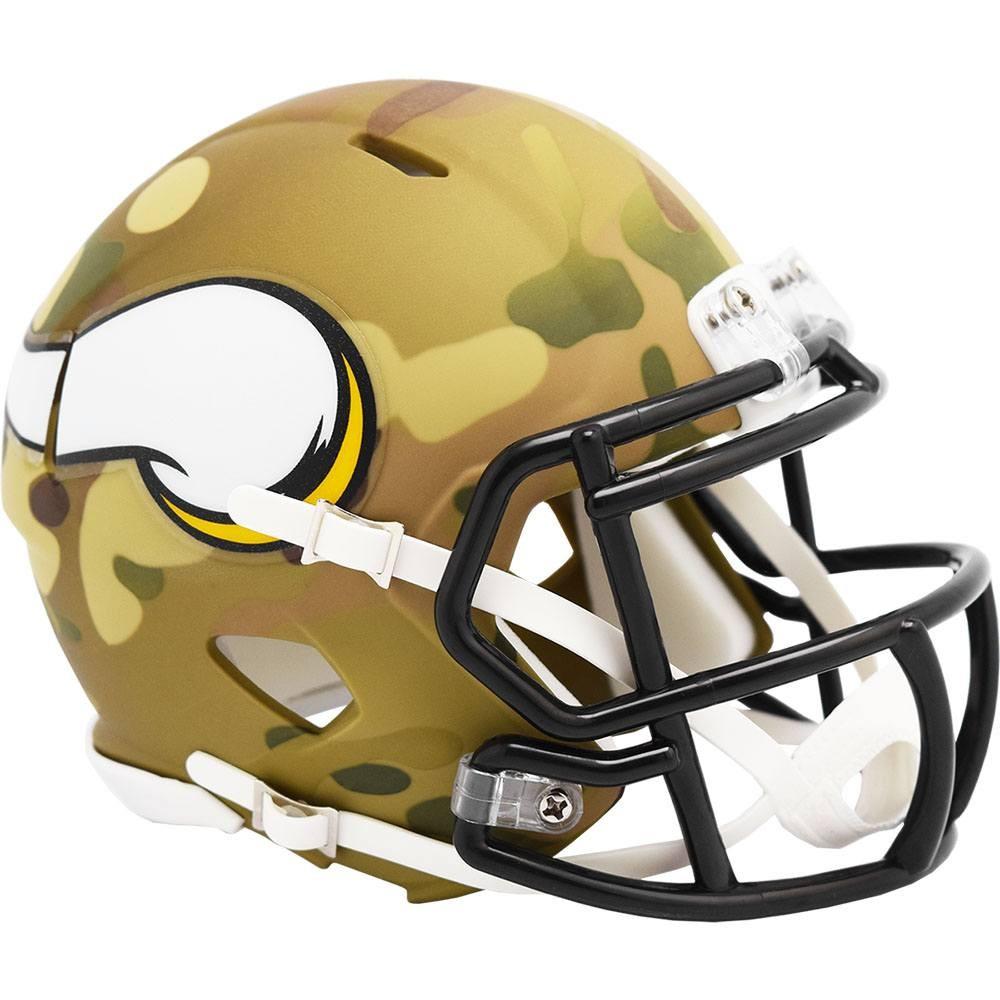 Minnesota Vikings 2020 Camo Riddell Mini Speed Helmet
