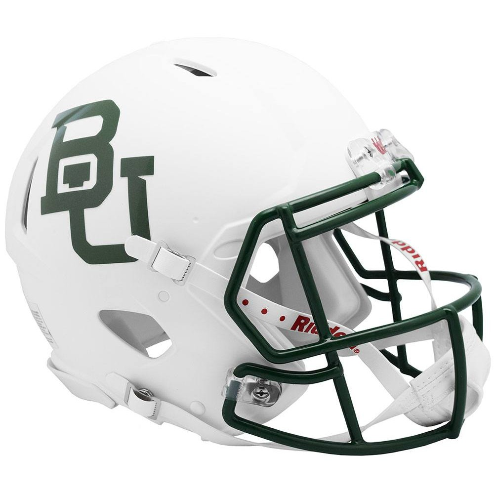 Baylor Bears 2019 White Metallic Riddell Full Size Authentic Speed Helmet