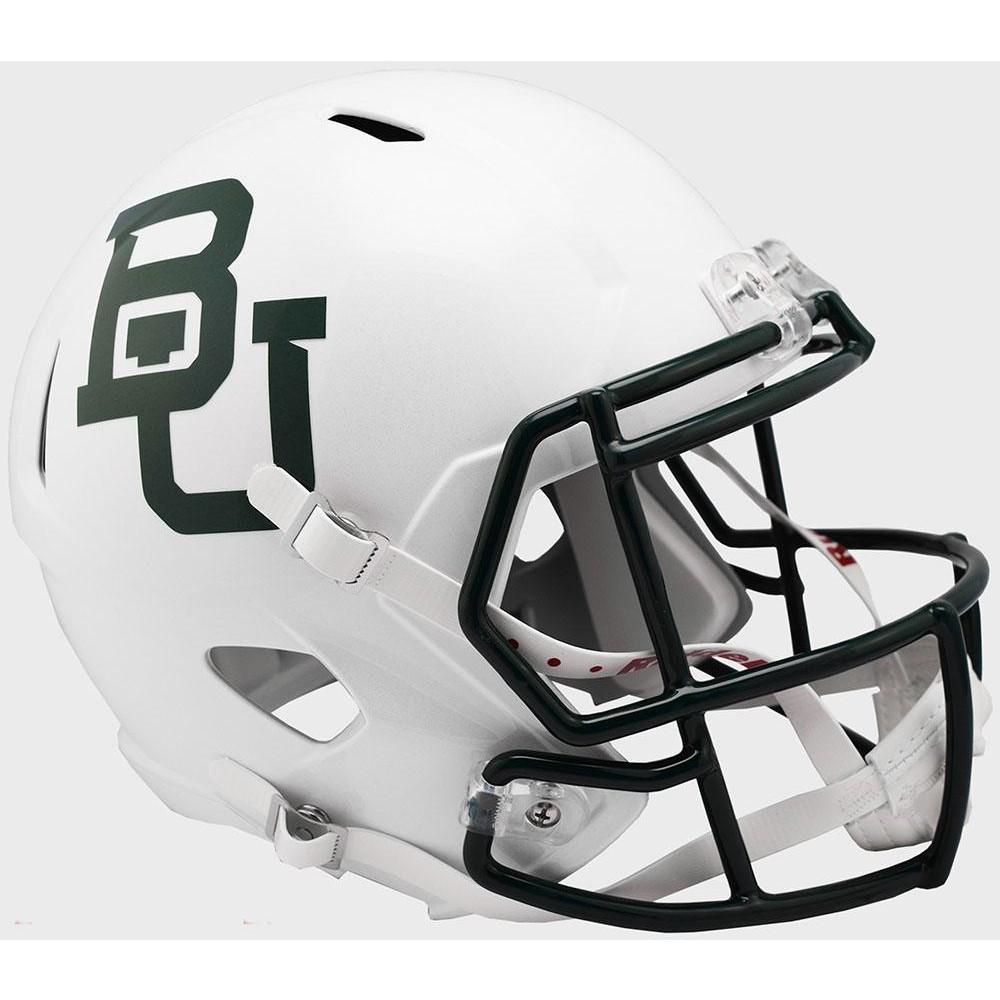 Riddell NCAA Baylor Bears 2019 White Metallic Replica Speed Full Size Football Helmet