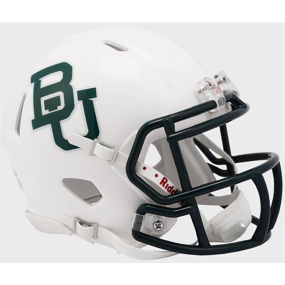 Riddell NCAA Baylor Bears 2019 White Metallic Speed Mini Football Helmet