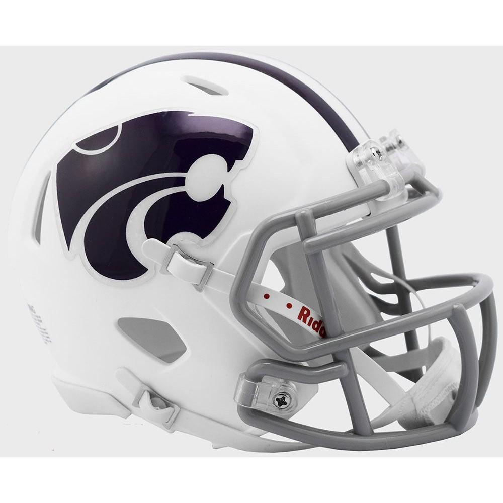 Riddell NCAA Kansas St Wildcats 2019 White Speed Mini Football Helmet