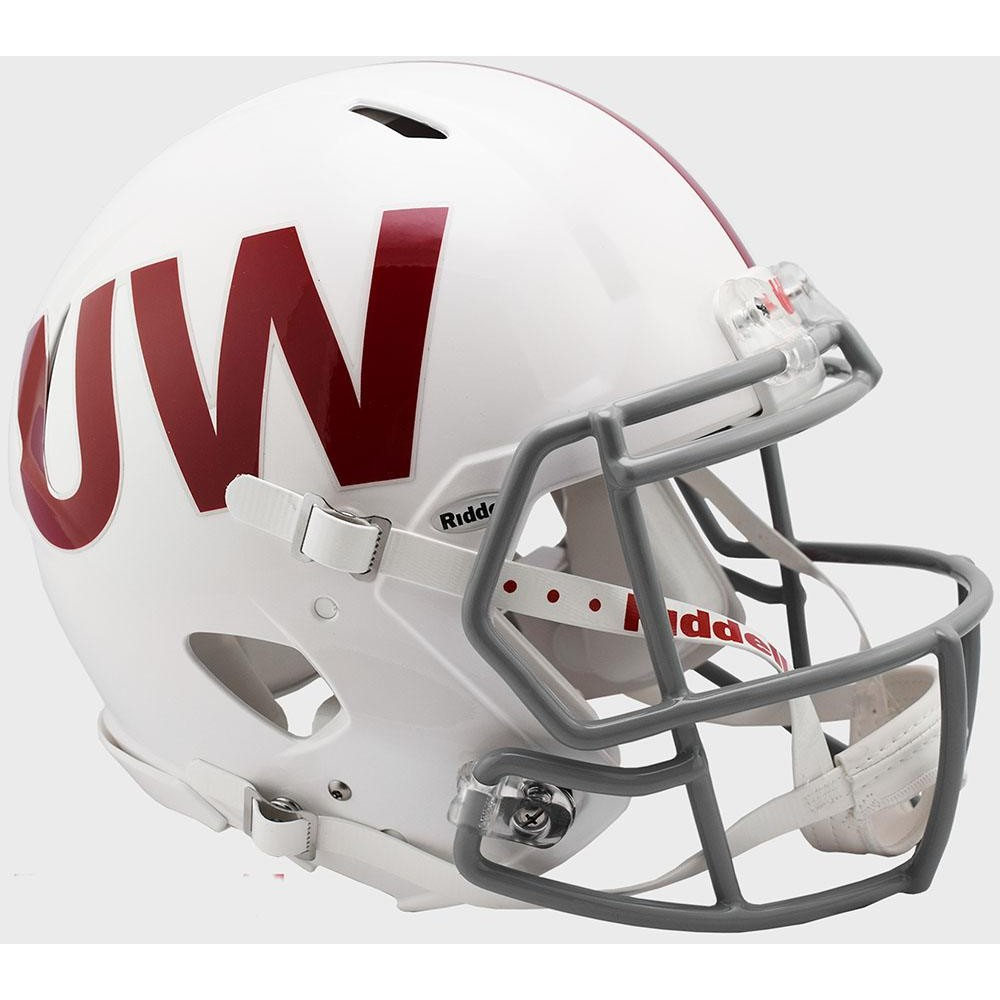 Wisconsin Badgers UW Throwback Riddell Full Size Authentic Speed Helmet