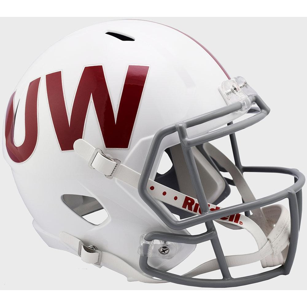 Riddell NCAA Wisconsin Badgers UW Throwback Speed Mini Football Helmet