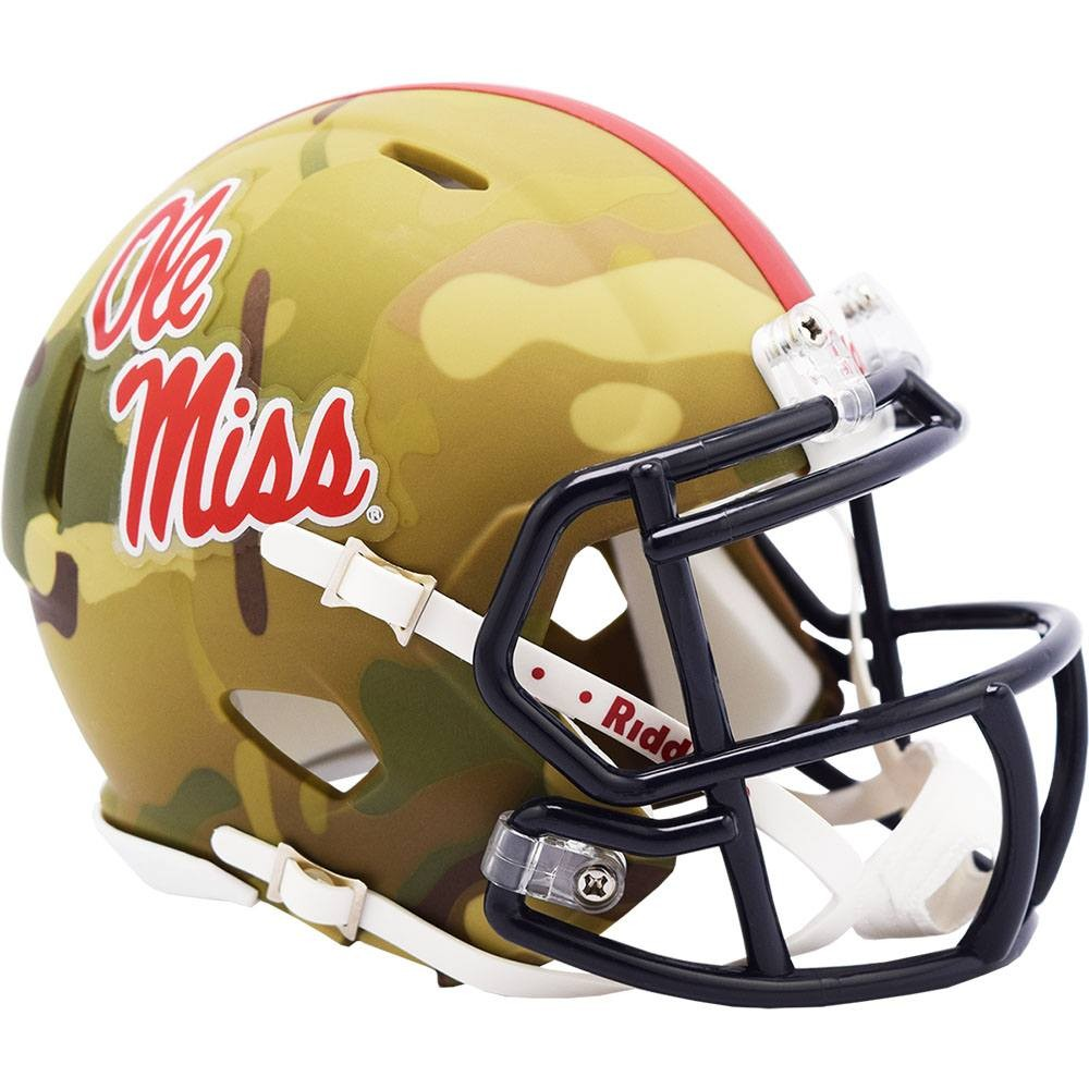 Mississippi (Ole Miss) Rebels 2020 Camo Riddell Mini Speed Helmet