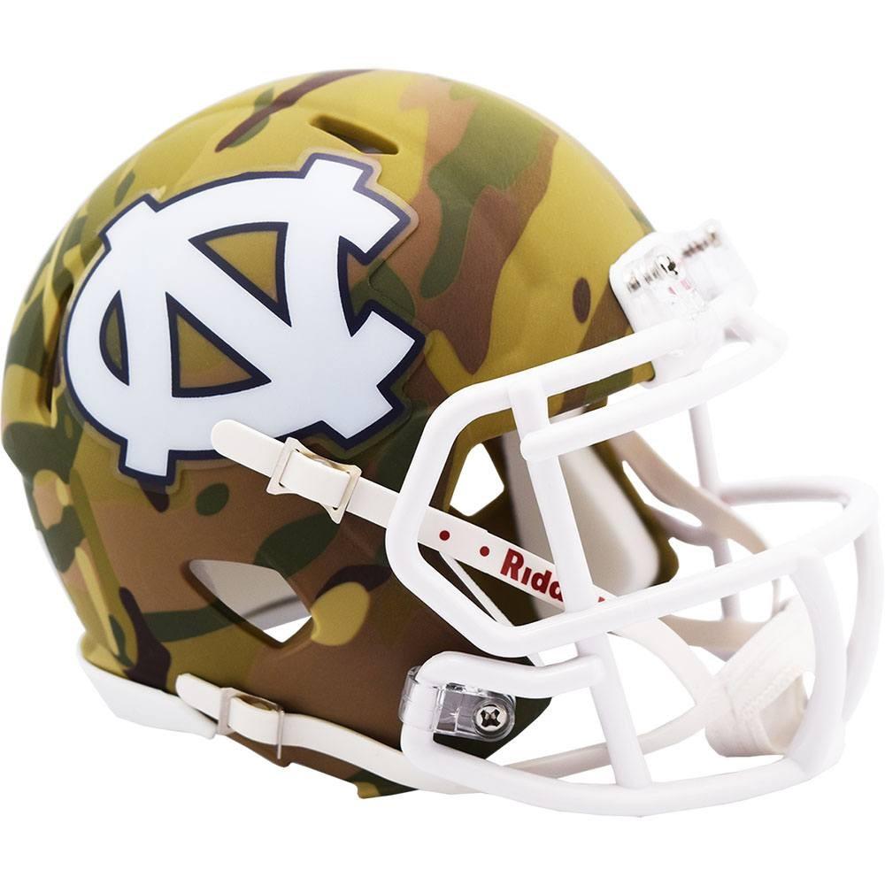 North Carolina Tar Heels 2020 Camo Riddell Mini Speed Helmet