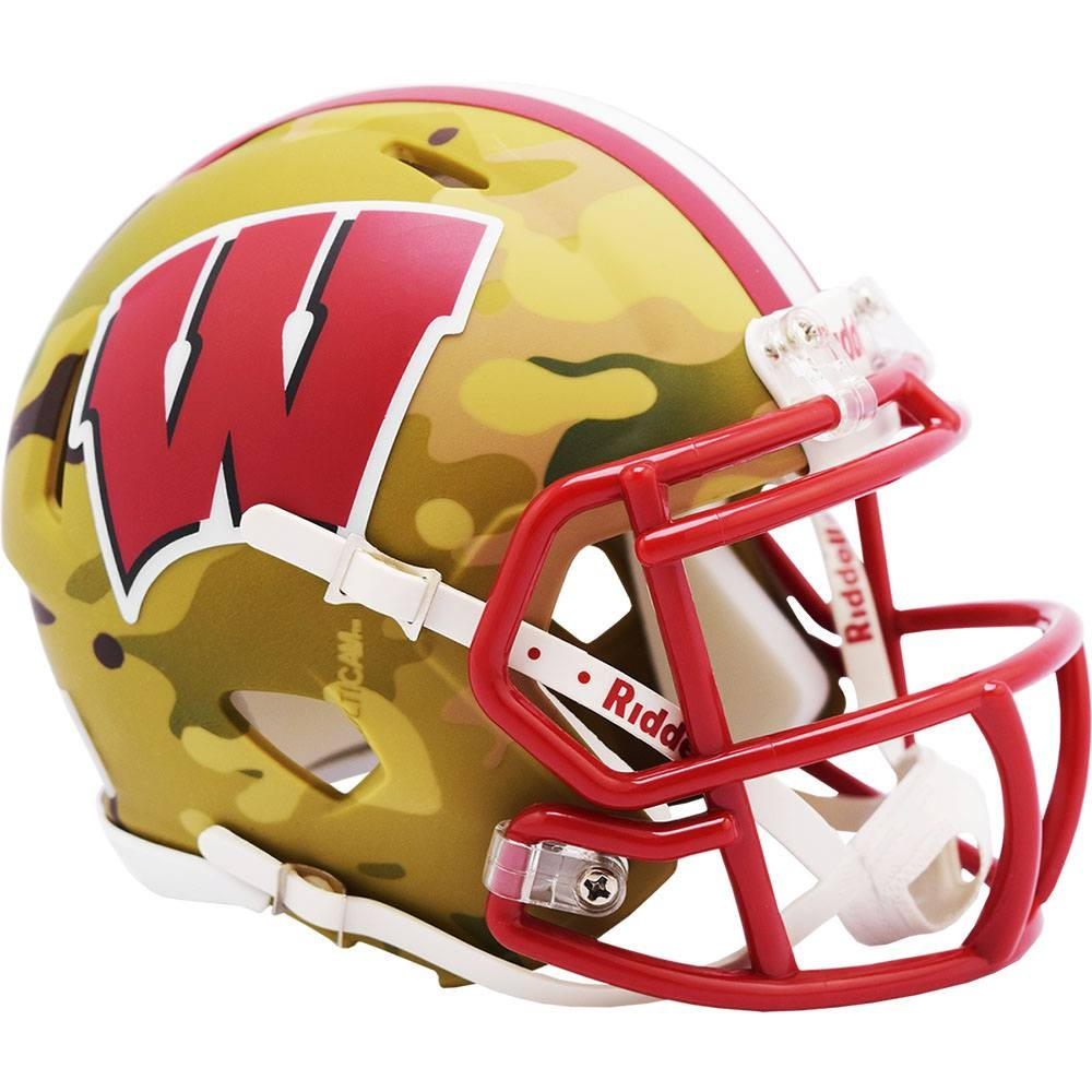 Wisconsin Badgers 2020 Camo Riddell Mini Speed Helmet
