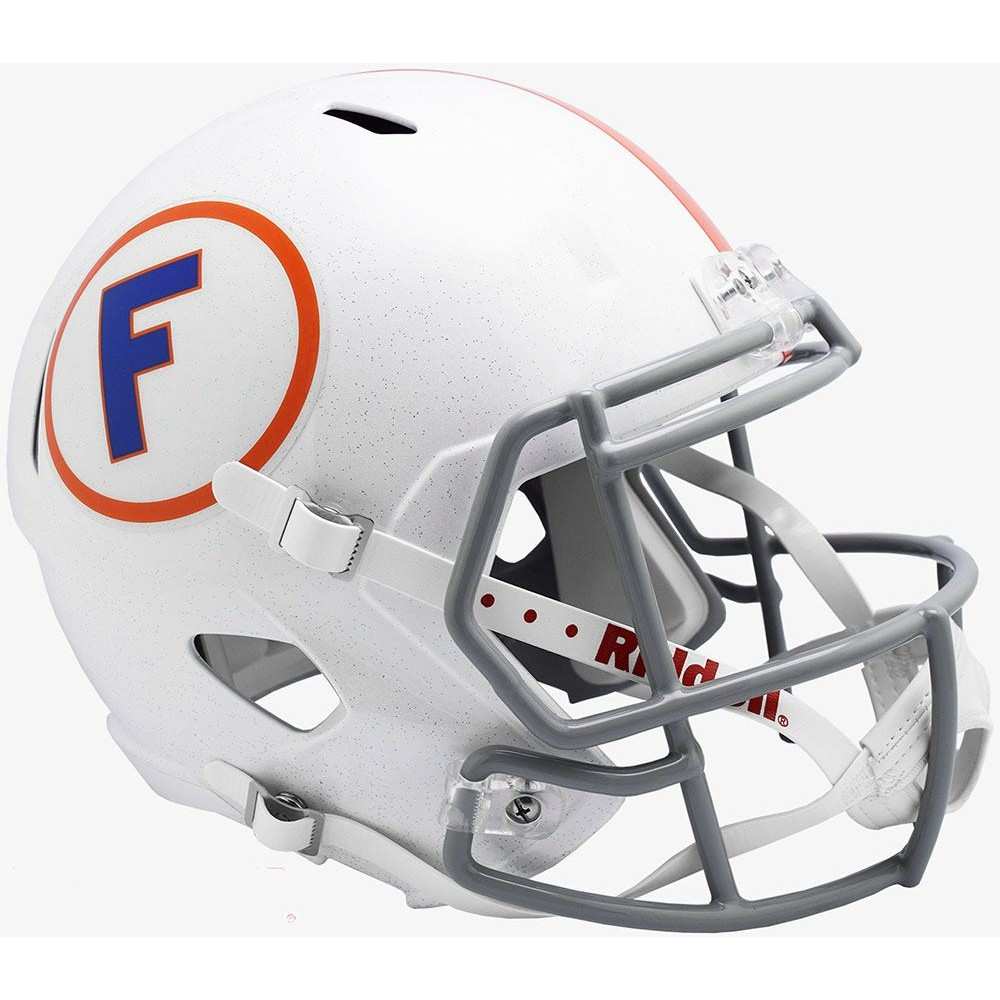 Riddell NCAA Florida Gators 2019 White Gray Mask Throwback Replica Speed Full Size Football Helmet
