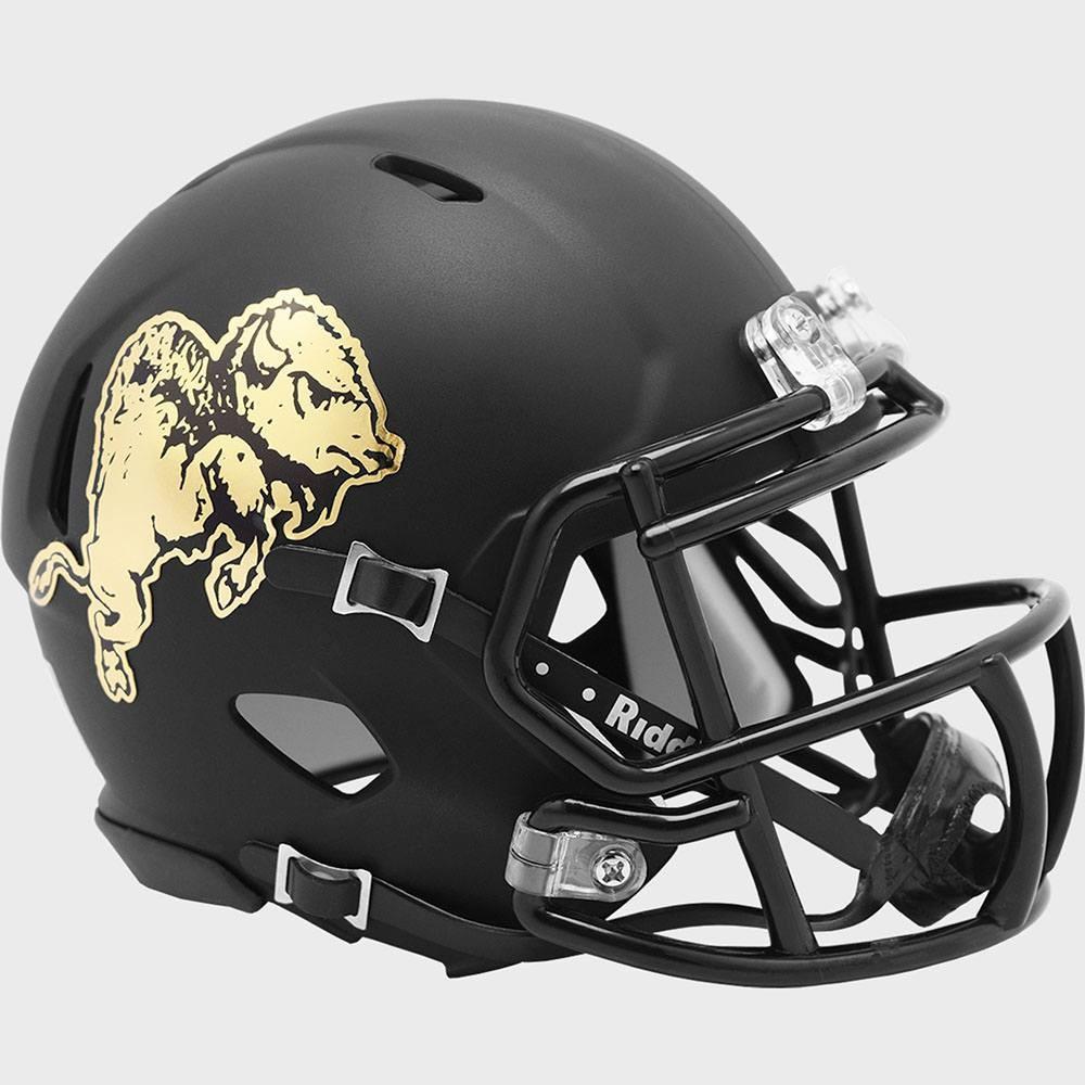 Riddell NCAA Colorado Buffaloes 2019 Chrome Buffalo Speed Mini Football Helmet